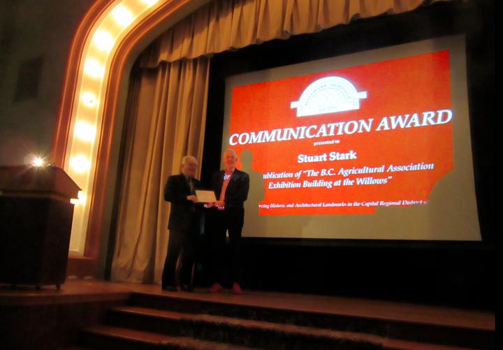 Stuart Winning Hallmark Award for Exhibition Book